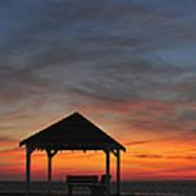 Gazebo At Sunset Seaside Park, Nj Poster