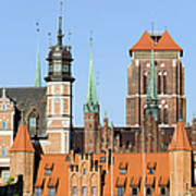 Gdansk Old Town In Poland Poster