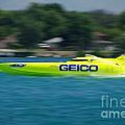 Geico Offshore Racer Poster