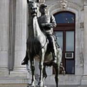 General Mc Clellan Statue - Philadelphia Poster