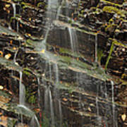 Gentle Waterfall In Glacier National Park Poster
