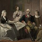 George And Martha Washington Sitting Poster by Everett