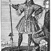 George Cumberland (1558-1605). George De Clifford Cumberland. 3rd Earl Of Cumberland. English Naval Commander And Courtier. Line Engraving, English, Early 19th Century Poster