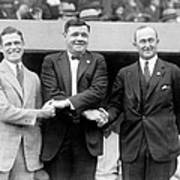 George Sisler, Babe Ruth And Ty Cobb Poster by Everett