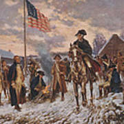 George Washington At Valley Forge Poster