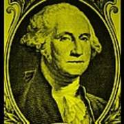 George Washington In Yellow Poster