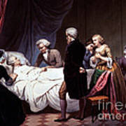 George Washington On His Death Bed Poster