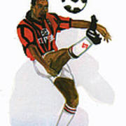 George Weah In Action Poster