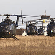 German Army Bo-105 Helicopters, Stendal Poster