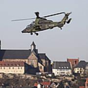 German Tiger Eurocopter Flying Poster