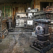 Ghost Town Stove Storage - Montana State Poster