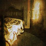 Ghostly Figure In Hallway Poster by Jill Battaglia