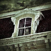Ghostly Girl In Upstairs Window Poster by Jill Battaglia
