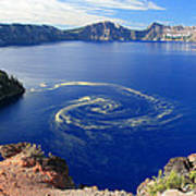 Giant Swirl Of Pollen At Crater Lake National Park  Poster