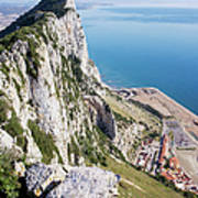 Gibraltar Rock And Mediterranean Sea Poster