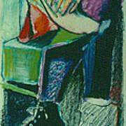 Girl In A Restaurant Poster