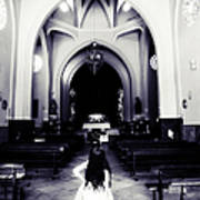 Girl In The Church Poster