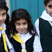 Girl Scouts At Orthodox Christmas Celebration Poster