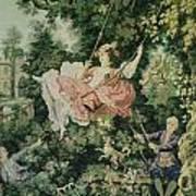 Girl Swinging Tapestry Poster