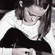 Girl With A Guitar  Poster