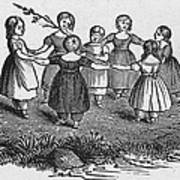 Girls Playing, 1844 Poster