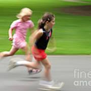 Girls Running Poster