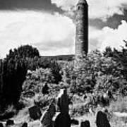 Glendalough Round Tower Ireland Poster