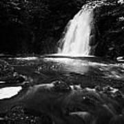 Gleno Or Glenoe Waterfall County Antrim Northern Ireland Uk Poster