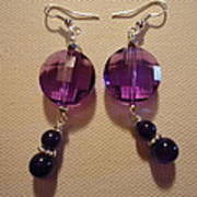 Glitter Me Purple Earrings Poster by Jenna Green