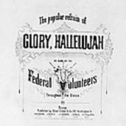Glory, Hallelujah Poster by Photo Researchers