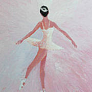 Glowing Ballerina Original Palette Knife  Poster