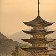 Goju-no-to Pagoda Poster by Karen Walzer