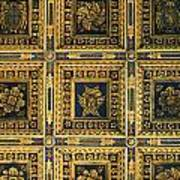 Gold Cathedral Ceiling Italy Poster