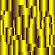 Gold Pattern B   Poster