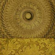 Gold Wheel I Poster by Ricki Mountain