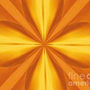Golden 4 Leaf Clover  Poster