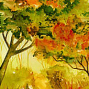 Golden Autumn Day Poster