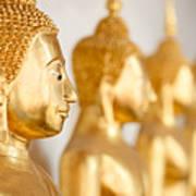 Golden Buddha Statue Poster