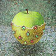 Golden Dress For The Apple Poster