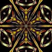 Golden Kaleidoscope Poster