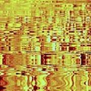Golden Ripples Abstract Poster