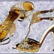 Golden Studded Stilettos Poster