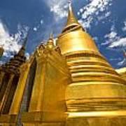 Golden Stupa In Grand Palace Bangkok Poster