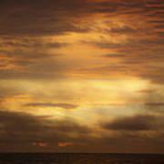 Golden Sunrise Squared Poster