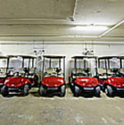 Golf Cart Parking Garage Poster