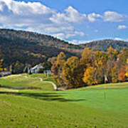 Golf Course In Autumn Poster
