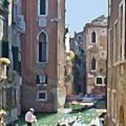 Gondola Painting Poster