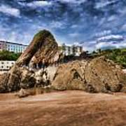 Goscar Rock Tenby 4 Painted Poster