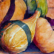 Gourds In The Fall Poster