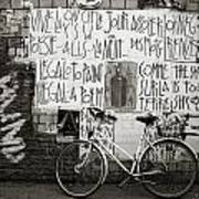 Graffiti And Bicycle Poster